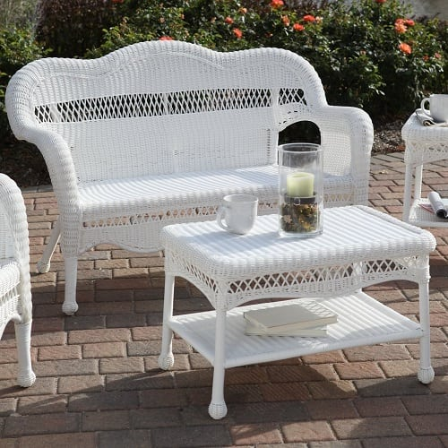 white-wicker-loveseat Best White Wicker Furniture