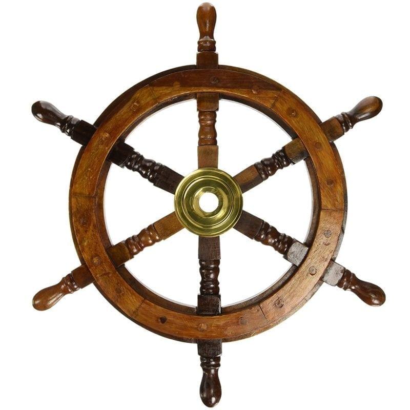 wood-ship-wheel-wall-decor-2-800x800 100+ Nautical Wooden Signs & Nautical Wood Wall Decor