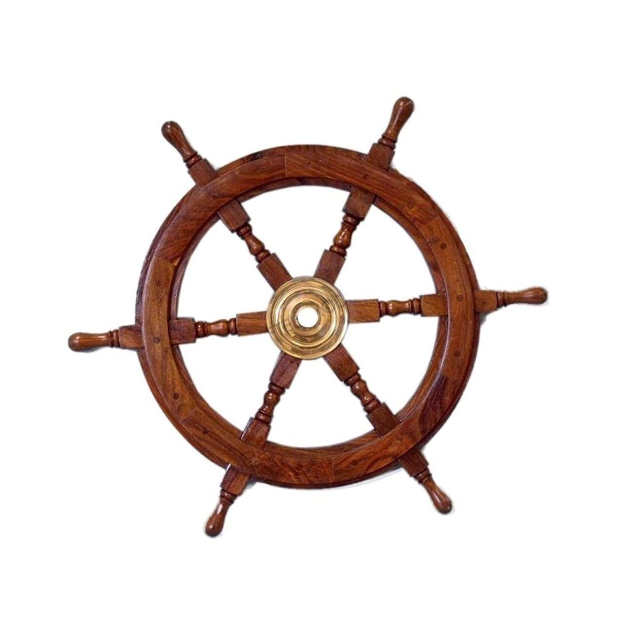 wood-ship-wheel-wall-decor 100+ Nautical Wooden Signs & Nautical Wood Wall Decor
