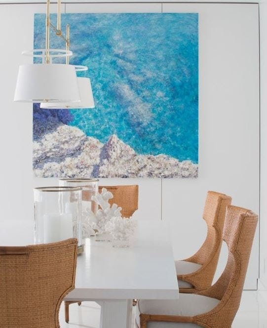 Beach-Style-Dining-Room-with-Coral-Decor Coral Decor