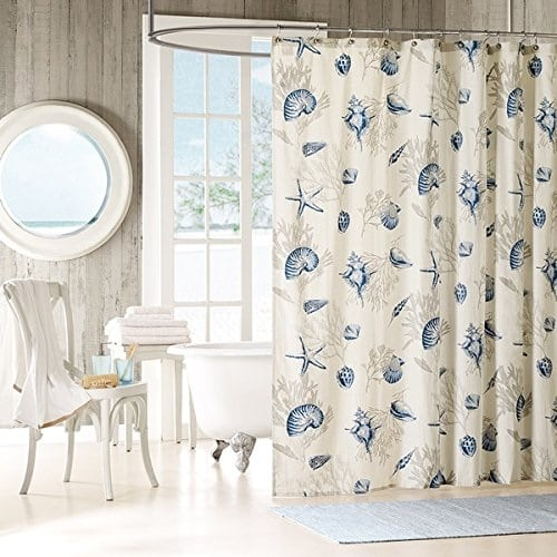 blue-coral-shower-curtain Coral Decor