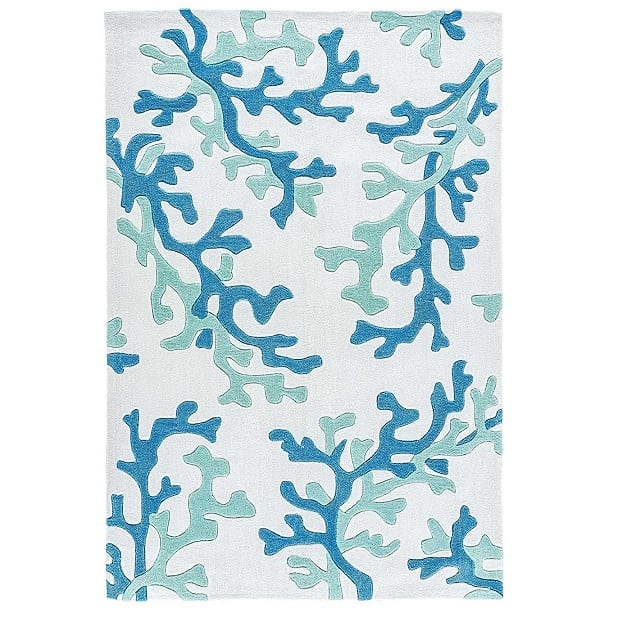 coastal-blue-coral-area-rug Coral Decor