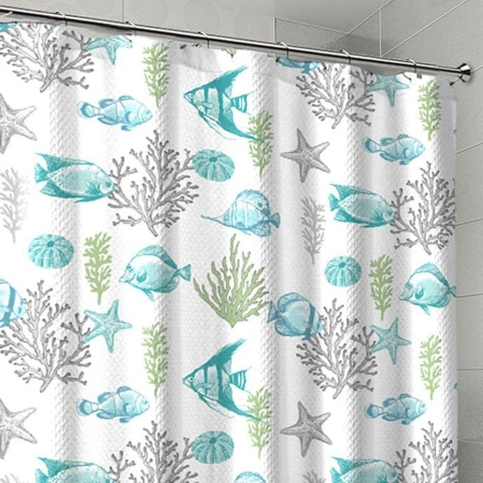 coral-fish-beach-shower-curtain Coral Decor