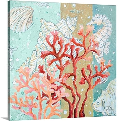 coral-seahorse-canvas-wall-art Coral Decor