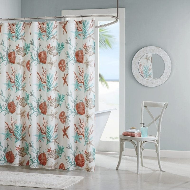 coral-seashell-starfish-shower-curtain-800x800 Coral Decor