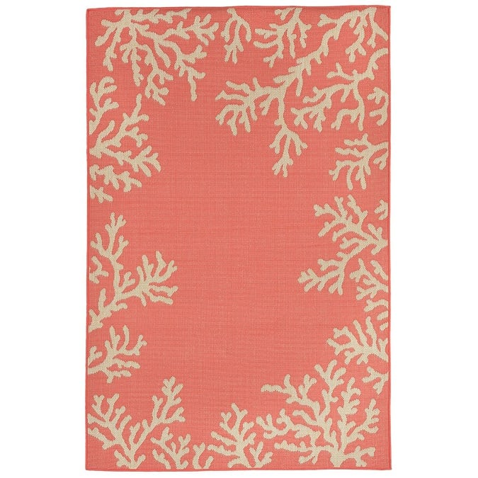 liorna-manne-veranda-coral-orange-area-rug Coral Decor