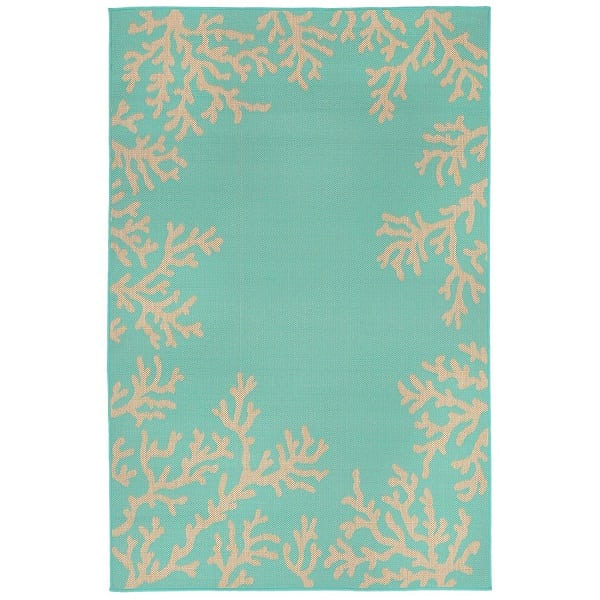 teal-coral-area-rug Coral Decor