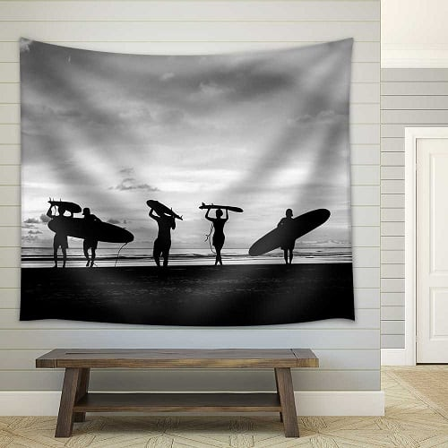 black-and-white-surf-tapestry Surf Decor & Surfboard Decorations