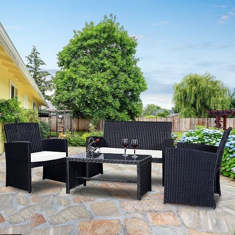black-wicker-furniture 100+ Black Wicker Patio Furniture Sets For 2020