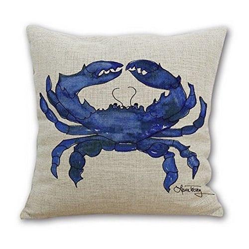 blue-crab-throw-pillow-2 Crab Decor & Crab Decorations