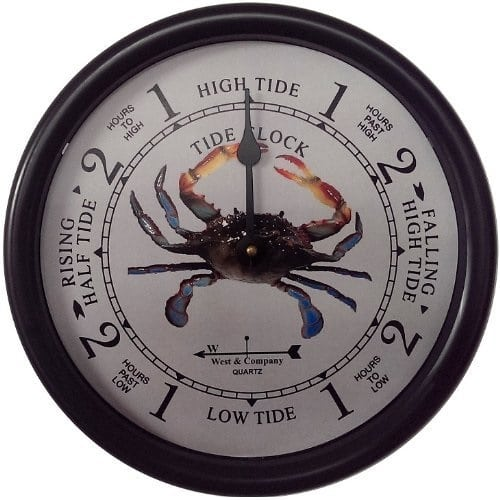 blue-crab-tide-clock Crab Decor & Crab Decorations