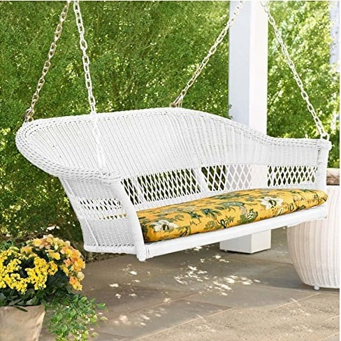 bright-white-wicker-swing-resin Wicker Swings and Wicker Porch Swings