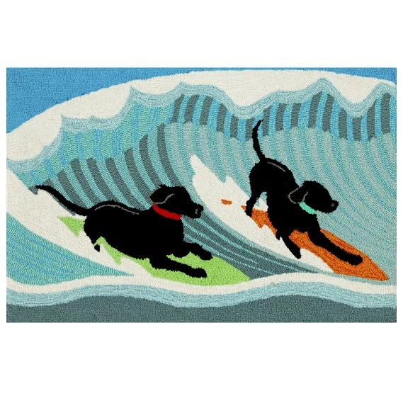 climsland-surfing-dogs-doormat Surf Decor & Surfboard Decorations