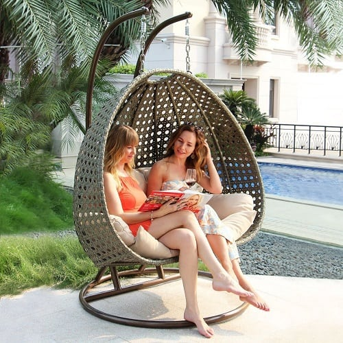 dubai-collection-wicker-swing-chair Wicker Swings and Wicker Porch Swings