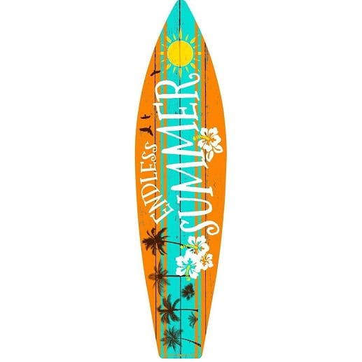 endless-summer-metal-surf-board-sign Surf Decor & Surfboard Decorations