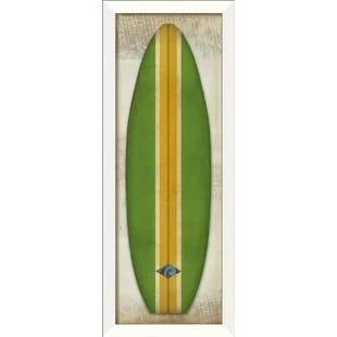 green-and-yellow-framed-art Surf Decor & Surfboard Decorations