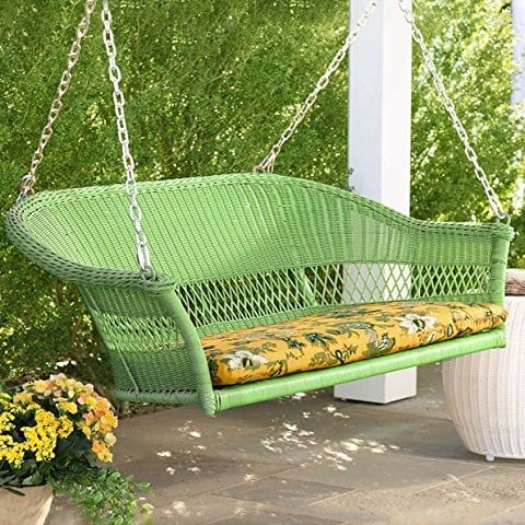 lime-green-wicker-porch-swing Wicker Swings and Wicker Porch Swings
