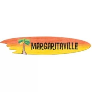 margaritaville-surfboard-garden-sign Surf Decor & Surfboard Decorations
