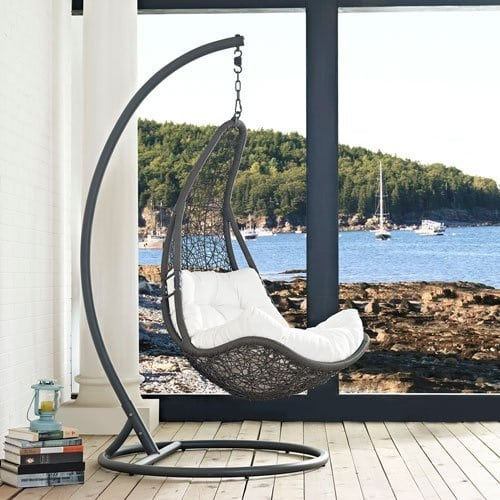 modway-encase-swing-outdoor-patio-lounge-chair Wicker Swings and Wicker Porch Swings