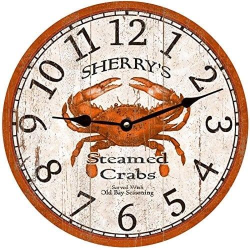 personalized-crab-clock Crab Decor & Crab Decorations