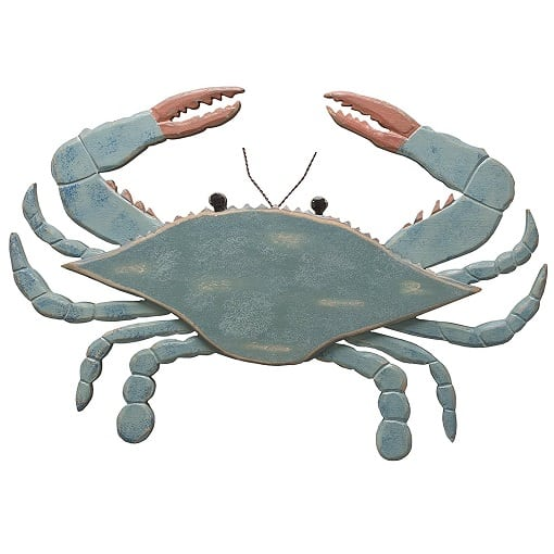 primitives-by-kathy-wooden-blue-crab-wall-decor Crab Decor & Crab Decorations