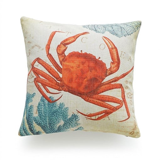 red-crab-throw-pillow Crab Decor & Crab Decorations