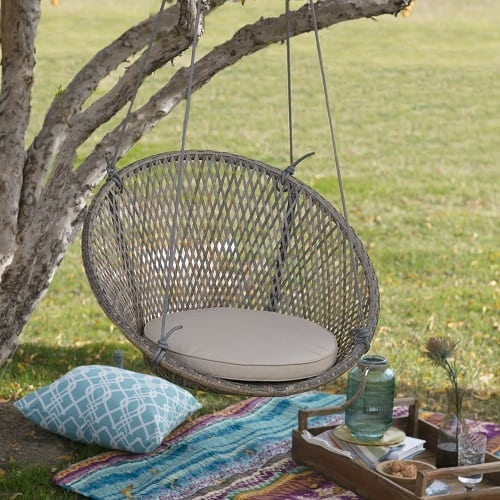 resin-wicker-single-swing-chair Wicker Swings and Wicker Porch Swings