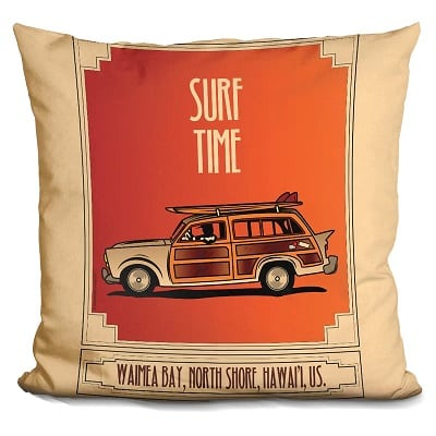 surf-time-throw-pillow Surf Decor & Surfboard Decorations