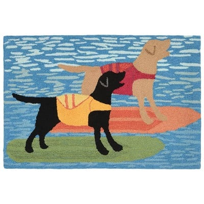 surfboard-dogs-door-mat Surf Decor & Surfboard Decorations