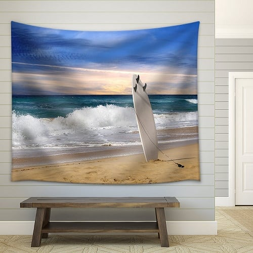 surfboard-fabric-wall-tapestry Surf Decor & Surfboard Decorations