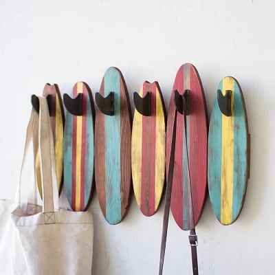 surfboard-wall-hooks Surf Decor & Surfboard Decorations
