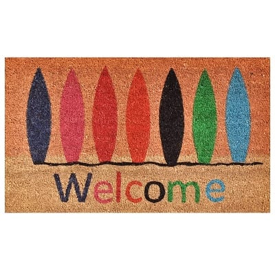 surfboard-welcome-doormat Surf Decor & Surfboard Decorations