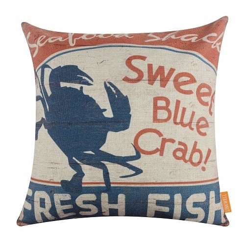 sweet-blue-crab-fresh-fish-throw-pillow Crab Decor & Crab Decorations