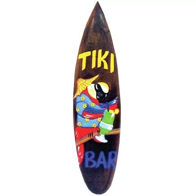 tiki-bar-surfboard-wood-wall-decor-parrot Surf Decor & Surfboard Decorations