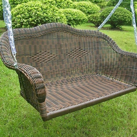 wicker-hanging-loveseat-swing Wicker Swings and Wicker Porch Swings