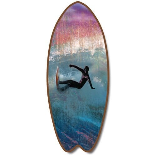 wood-surfboard-beach-plaque Surf Decor & Surfboard Decorations