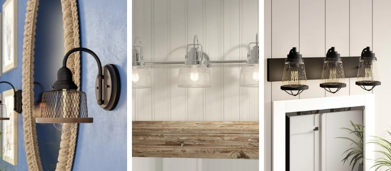 Nautical Bathroom Lighting And Beach