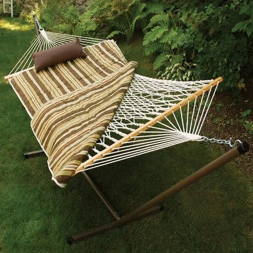 Beachcrest-home-brookside-4-piece-rope-cotton-hammock Best Rope Hammocks