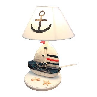 Brundage-Wooden-Sailboat-14-Table-Lamp Boat Lamps and Sailboat Lamps