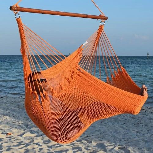 Bungalow-Rose-Jumbo-Caribbean-Polyester-Chair-Hammock Best Rope Hammocks