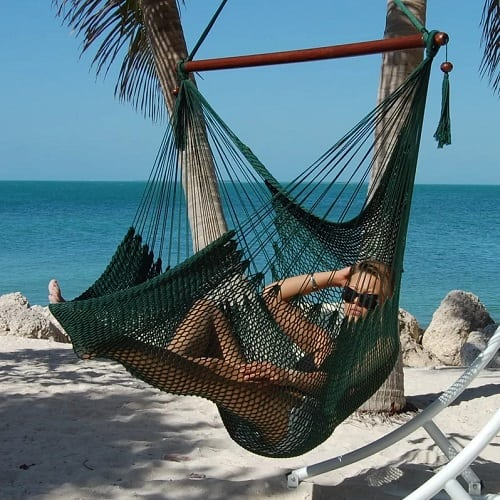 Bungalow-Rose-Travis-Large-Caribbean-Polyester-Hammock-Chair Best Rope Hammocks
