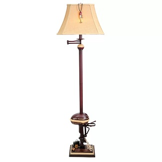 Quinton-Vintage-Boat-Motor-65-Swing-Arm-Floor-Lamp Boat Lamps and Sailboat Lamps