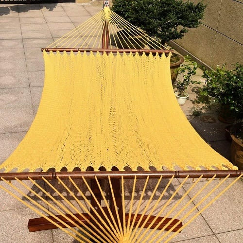 Toucan-Outdoor-55-inch-caribbean-rope-hammock-golden-yellow 100+ Best Rope Hammocks