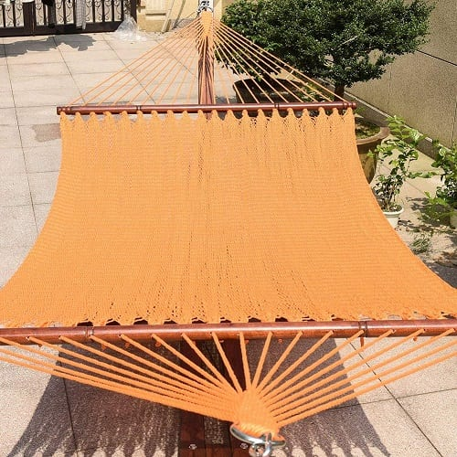 Toucan-Outdoor-55-inch-caribbean-rope-hammock-orange-saffron-yellow 100+ Best Rope Hammocks