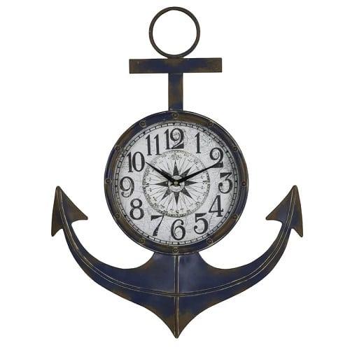 anchor-wall-clock-9 Nautical Clocks