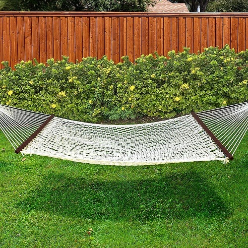 best-choice-products-woven-cotton-rope-double-hammock-wood-spreader 100+ Best Rope Hammocks