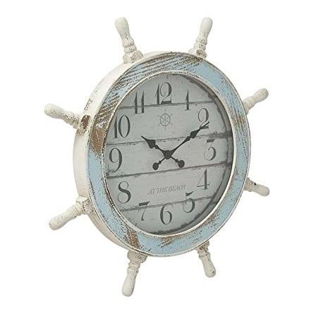 deco-79-nautical-wood-anchor-clock-28 Nautical Clocks