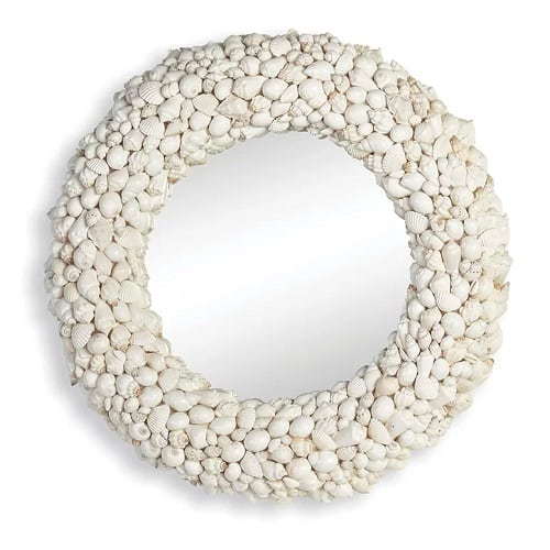 deepraj-seashell-accent-mirror Coastal Mirrors and Beach Themed Mirrors