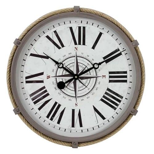 destafano-nautical-wall-clock-17.5 Nautical Clocks