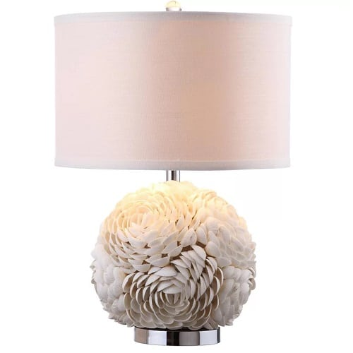 mitchell-scallop-table-lamp Beach Themed Lamps